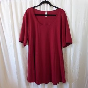 LuLaRoe Perfect T Raspberry 3X